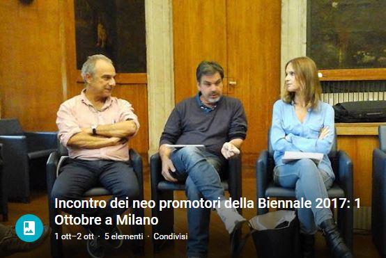 1 Ottobre 2015 - Incontro dei neo promotori della Biennale 2017