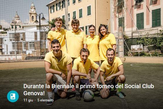 Durante la Biennale il primo torneo del Social Club Genova!