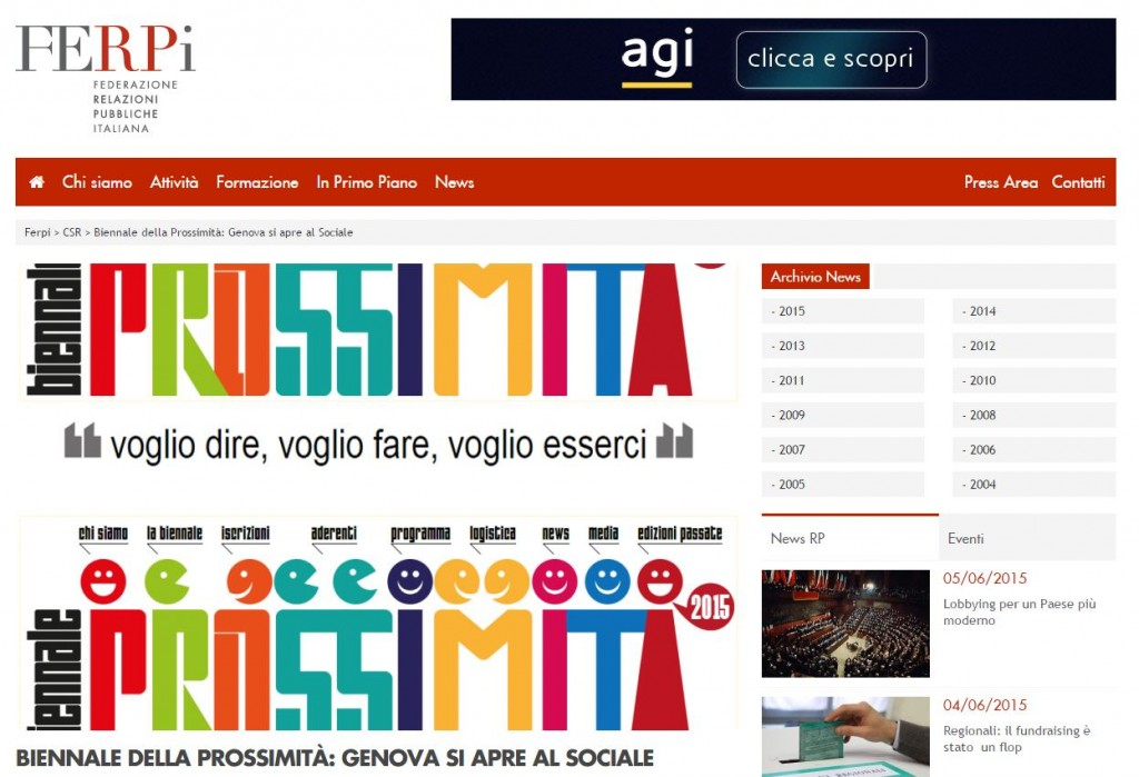 06 Giugno - Articolo sulla Biennale su FERPi