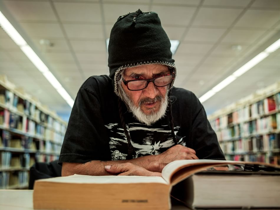 Homeless Library Patron