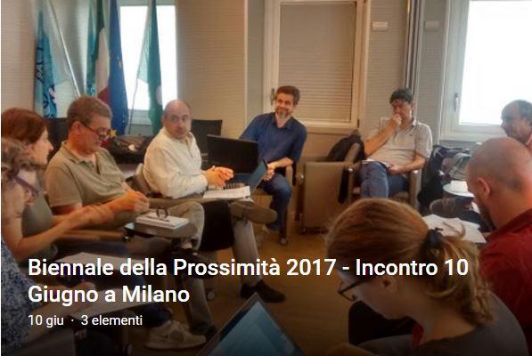 Oggi a Milano la riunione dei promotori della Biennale 2017