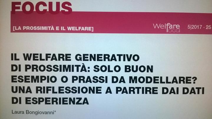 Il Welfare generativo di Prossimità. Su Welfare Oggi