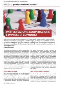 Partecipazione, cooperazione e imprese di comunità
