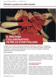 il welfare collaborativo: oltre lo storytelling