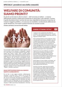 welfare di comunità: siamo pronti?