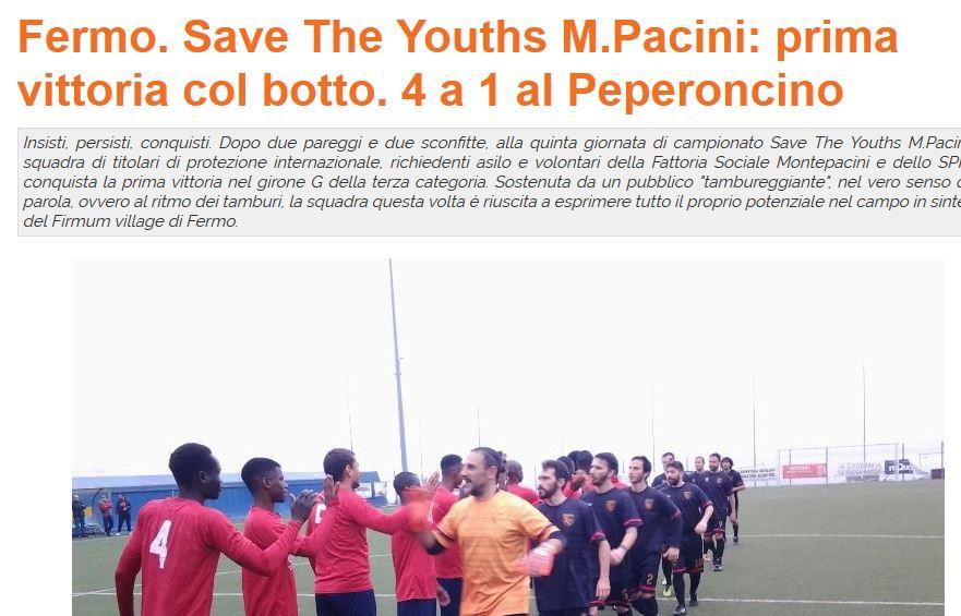Save The Youths M. Pacini: una squadra di calcio fuori dal comune