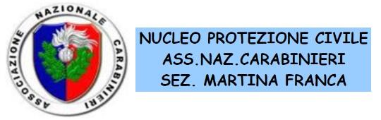 115. Associazione Nazionale Carabinieri - Protezione civile - Martina Franca